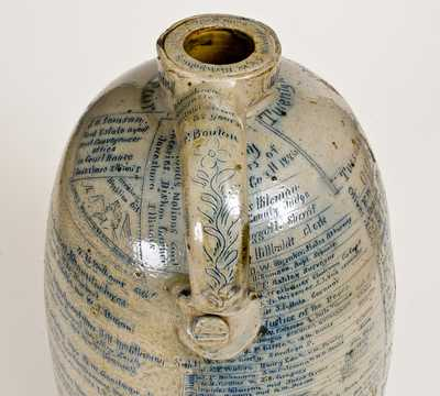 Exceptional Monumental Anna Pottery Stoneware Fair Jug