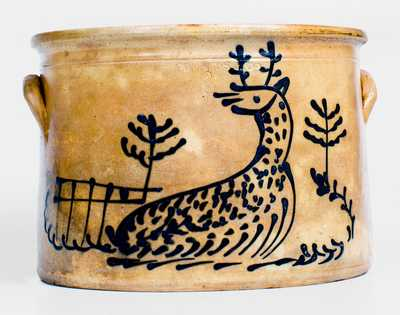 EDMANDS & CO (Charlestown, Massachusetts) Stoneware Deer Cake Crock