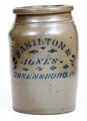 HAMILTON & JONES / GREENSBORO, PA Stoneware Jar