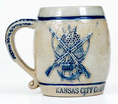 Kansas City Sons of the Revolution Stoneware Mug by Whites Utica