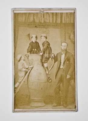 Important Original Photograph Depicting Cornwall Kirkpatrick w/ Anna Pottery Masterpiece