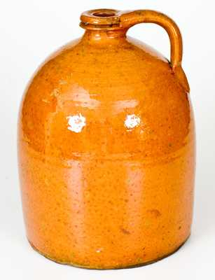Galena Redware Jug w/ Grooved Spout