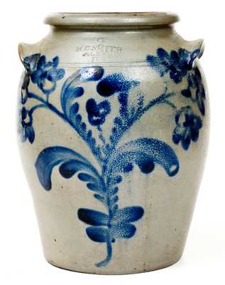 Fine H.C. SMITH / ALEXA / D.C. Two-Gallon Stoneware Jar with Elaborate Decoration
