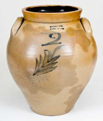 Two-Gallon N. CLARK & CO. / MOUNT MORRIS Stoneware Jar, c1825-40