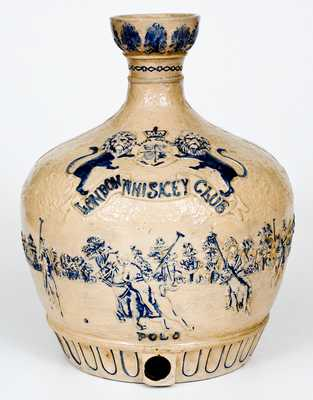 Outstanding JOHN P. SHEEHAN & CO. / UTICA, NY Cooler w/ Polo Scene for LONDON WHISKEY CLUB