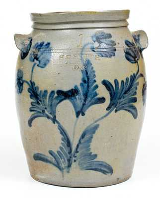 One-Gallon H.C. SMITH / ALEXA, DC (Alexandria, Virginia) Stoneware Jar
