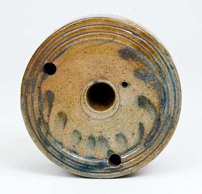Stoneware Inkwell with Cobalt Decoration attrib. Nathan Clark, Athens, NY