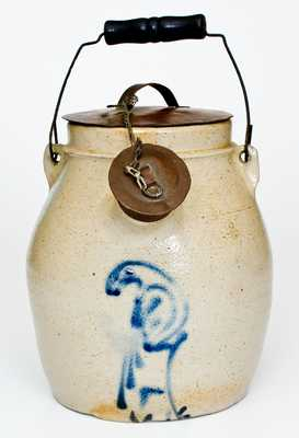 1 Gal. Stoneware Batter Pail with Bird Decoration