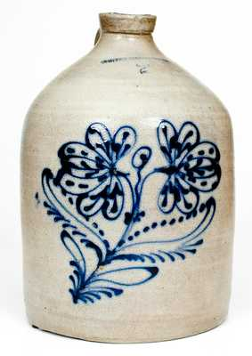 WHITES BINGHAMTON Stoneware Jug with Slip-Trailed Floral Decoration