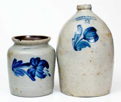 Lot of Two: COWDEN & WILCOX / HARRISBURG, PA Stoneware Jug and Jar