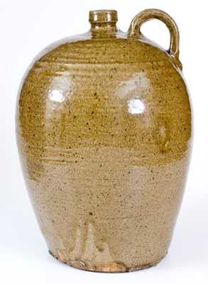 Fine 3 Gal. Att. B.F. Landrum, Edgefield District, SC Stoneware Jug