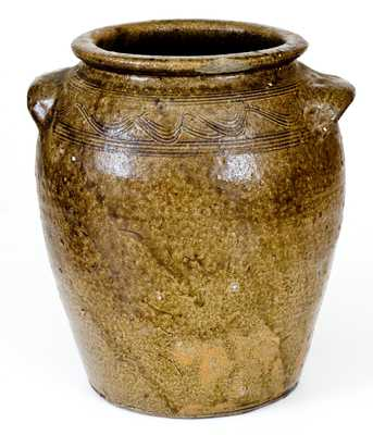 2 Gal. Catawba Valley, NC Stoneware Jar with Combed Decoration