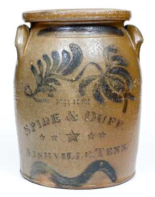 Rare 3 Gal. NASHVILLE, TN Stoneware Advertising Jar, Beaver, PA Origin