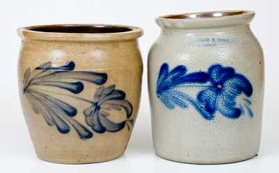 Lot of Two: Central PA Stoneware Jars incl. COWDEN & WILCOX / HARRISBURG, PA Example