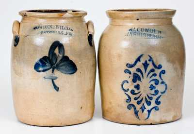 Lot of Two: Cowden Family, Harrisburg, PA Stoneware Jars