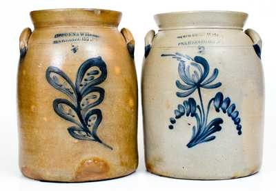 Lot of Two: COWDEN & WILCOX / HARRISBURG, PA Stoneware Jars