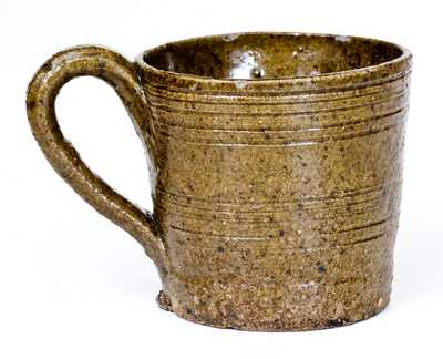 Unusual Alkaline-Glazed Stoneware Mug, probably South Carolina
