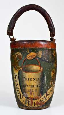1815 American Leather Fire Bucket, probably Boston origin