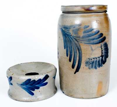 Lot of Two: Baltimore, MD Stoneware Jar and Stoneware Spittoon