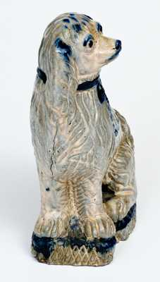 Very Rare Anna Pottery Seated Spaniel Doorstop