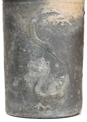 Extremely Rare Anna Pottery Porch Vase w/ Applied Dragon Motif