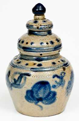 Outstanding American Stoneware Bank, probably Athens, NY origin