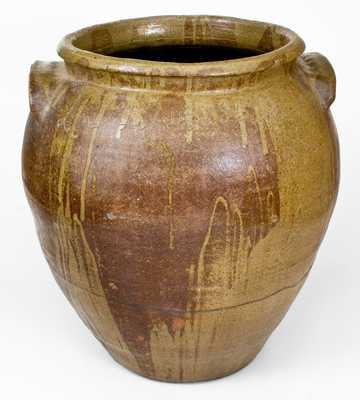 Outstanding Fifteen-Gallon Stoneware Jar by Enslaved Potter, Dave,