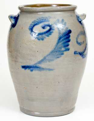 Rare Two-Gallon Baltimore Stoneware Jar with Cobalt Date