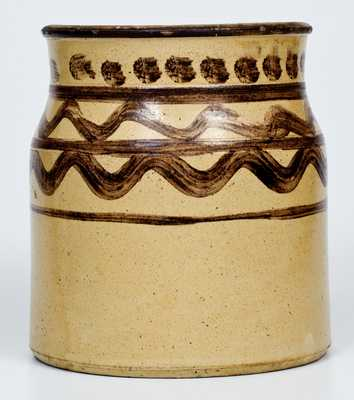 Three-Gallon Slip-Decorated Redware Jar, American or Canadian