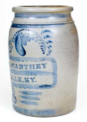 Two-Gallon Maysville, KY Stoneware Advertising Crock