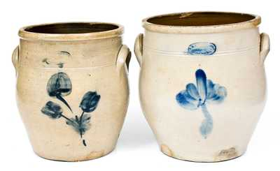 Lot of Two: A.E. SMITH & SONS, / MANUFACTURERS, / 38 Peck Slip, N.Y. Stoneware Jars