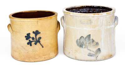 Two A.E. SMITH / MANUFACTURERS, / 38 Peck Slip, N.Y. Stoneware Crocks