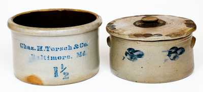 Lot of Two: Baltimore Stoneware Cake Crocks