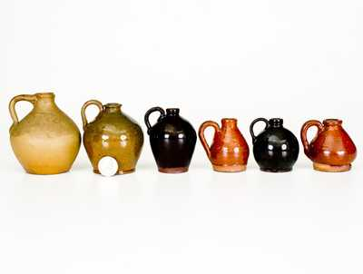 Lot of Six: Miniature Jugs