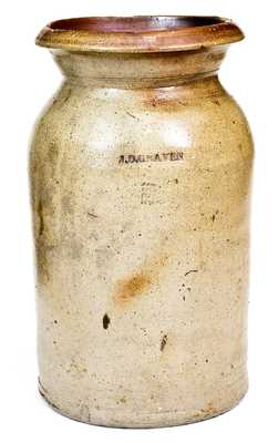 J.D. Craven (Randolph and Moore Counties, NC) Stoneware Jar