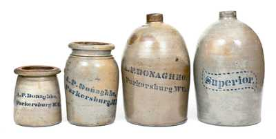 Lot of Four: A.P. DONAGHHO / Parkersburg, W Va. Stoneware