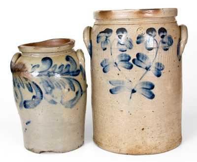Lot of Two: 2 Gal. and 5 Gal. Baltimore, MD Stoneware Jars