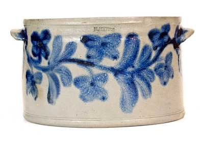 Exceptional Stoneware Cake Crock, H. MYERS, Baltimore, circa 1825