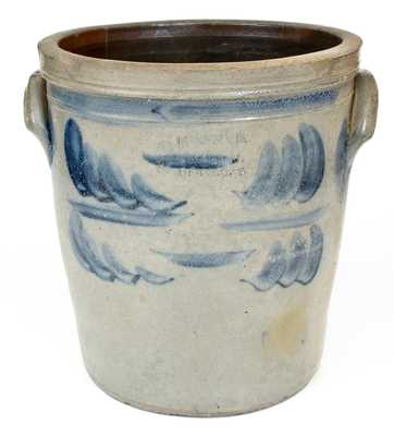 3 Gal. MCKENZIE & JACKSON / BEAVER, PA Stoneware Crock with Cobalt Decoration