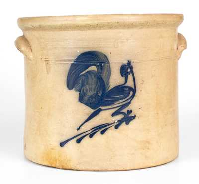 2 Gal. Rooster Crock attrib. White Family, Utica, New York