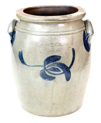 3 Gal. J. MCKENZIE / BEAVER, PA Stoneware Jar with Floral Decoration