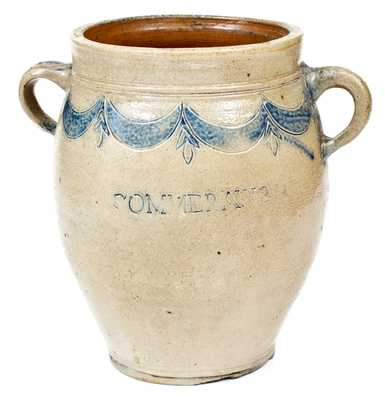 Fine Thomas W. Commeraw Stoneware Jar (Free African-American Potter of New York City)