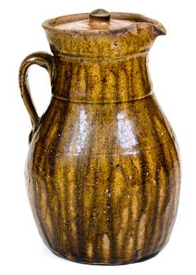 1 Gal. Crawford County, Georgia Stoneware Lidded Pitcher