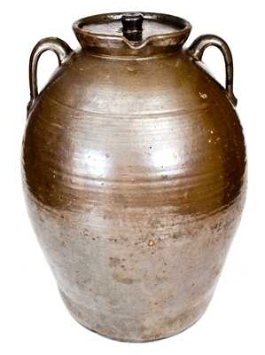 Outstanding JBL (Jesse Bradford Long), Crawford County, GA Large Spouted Stoneware Jar