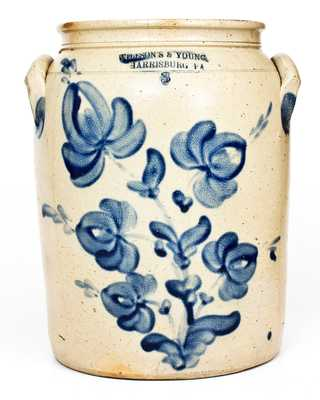 Very Fine WILLSON'S & YOUNG / HARRISBURG, PA Stoneware Jar