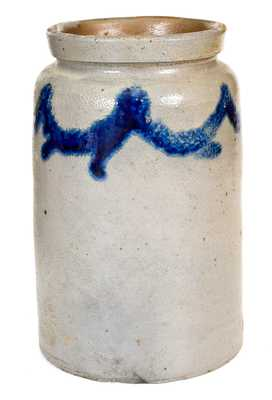 1/2 Gal. Stoneware Jar with Swag Decoration att. Baltimore, MD, circa 1820