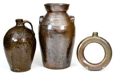 Lot of Three: Alkaline-Glazed North Carolina Stoneware
