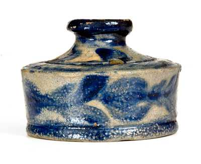 Exceptional Baltimore Stoneware Inkwell w/ Profuse Decoration