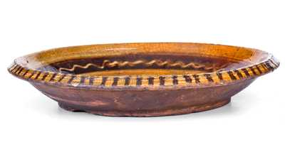 Slip-Decorated Redware Bowl, possibly NC origin, early to mid 19th century
