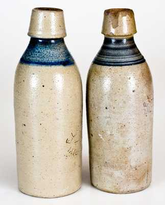 Lot of 2: E.L. HUSTING / MILWAUKEE, WIS. Stoneware Bottles